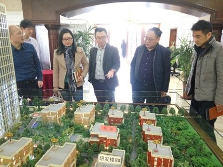 浦口区科技局副局长彭静馨一行莅临园区考察
