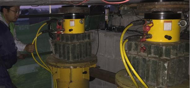 我拜尔公司顺利完成北京地铁项目同步液压顶升系统工作