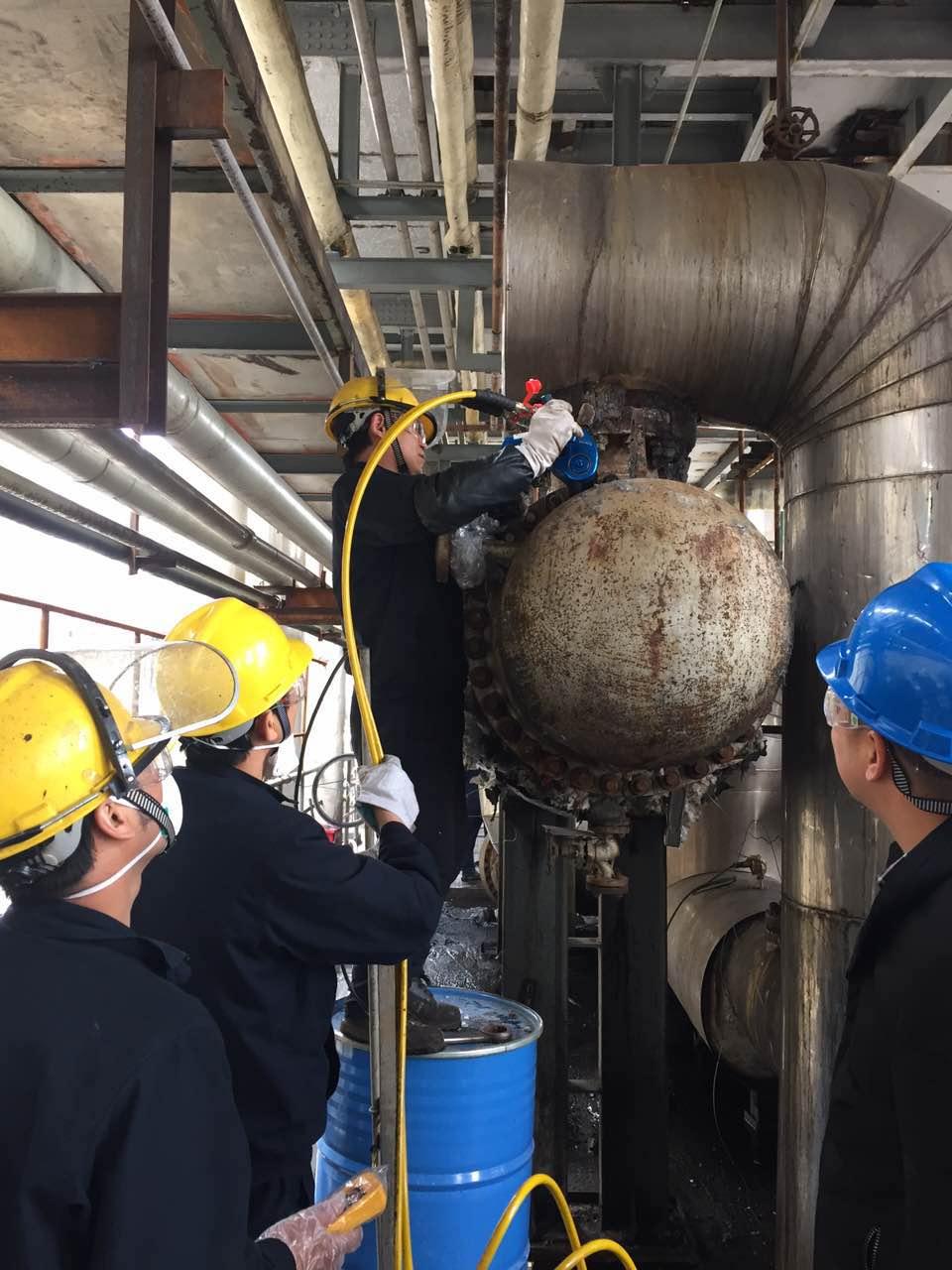 拜尔液压扳手在浙江地区某化工客户防爆场所完成紧固施工