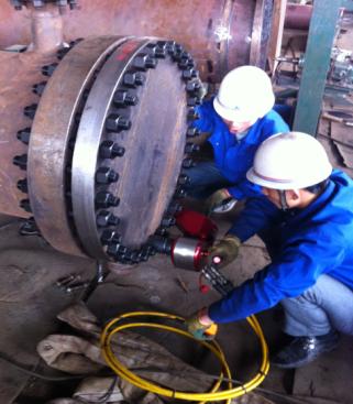 BAIER液压扳手用于内蒙古某煤化工项目