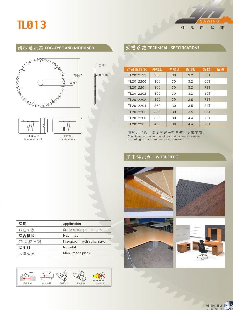 板式专用锯片