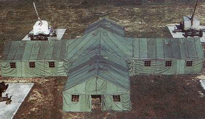 Combined command tents