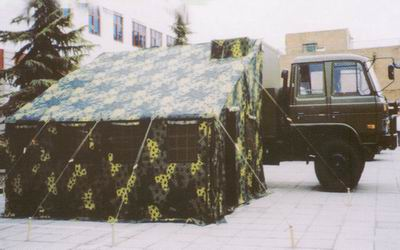Field command vehicle tents