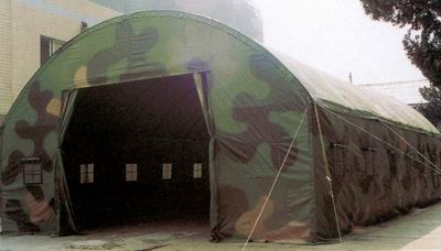Multi-spectrum camouflage field maintenance tents