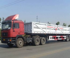 CNG truck lengthened eight pipe