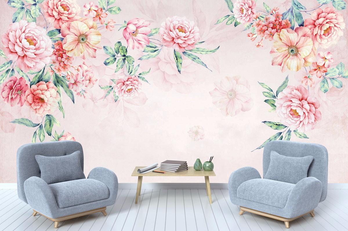 复古花卉壁画FG02