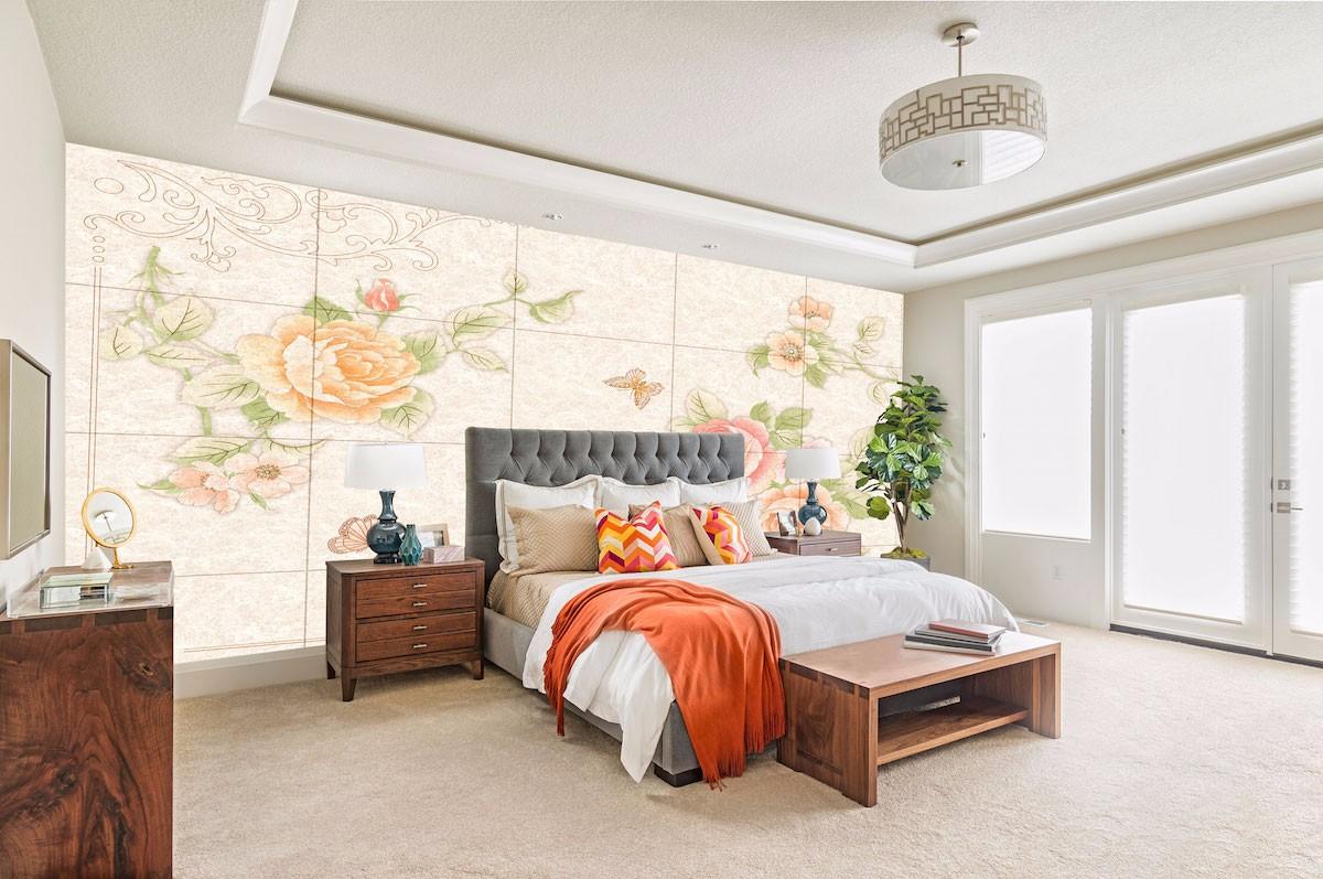 酒店床头背景墙壁画JD55