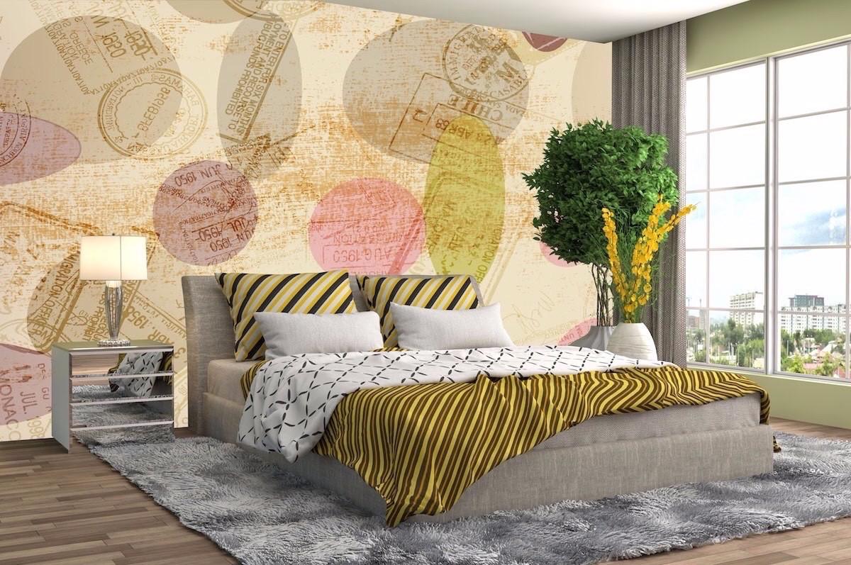 酒店床头背景墙壁画JD53