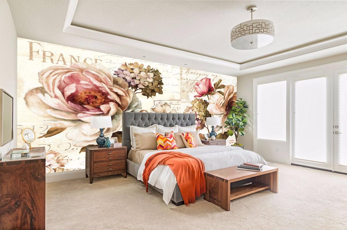 酒店床头背景墙壁画JD57