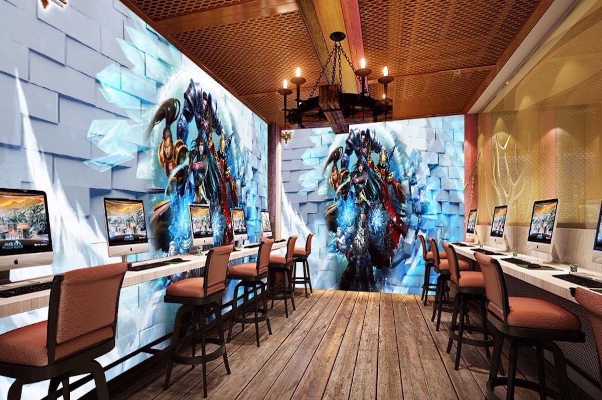 网咖壁画WK15