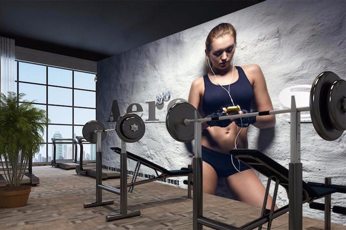 健身房壁畫JS08