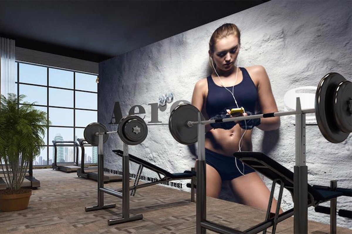 健身房壁画JS08