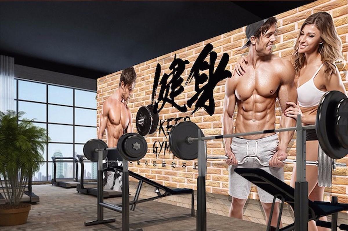 健身房壁畫JS11
