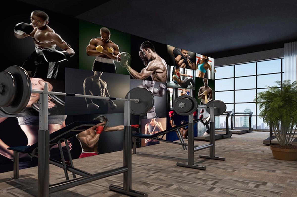 健身房壁畫JS13