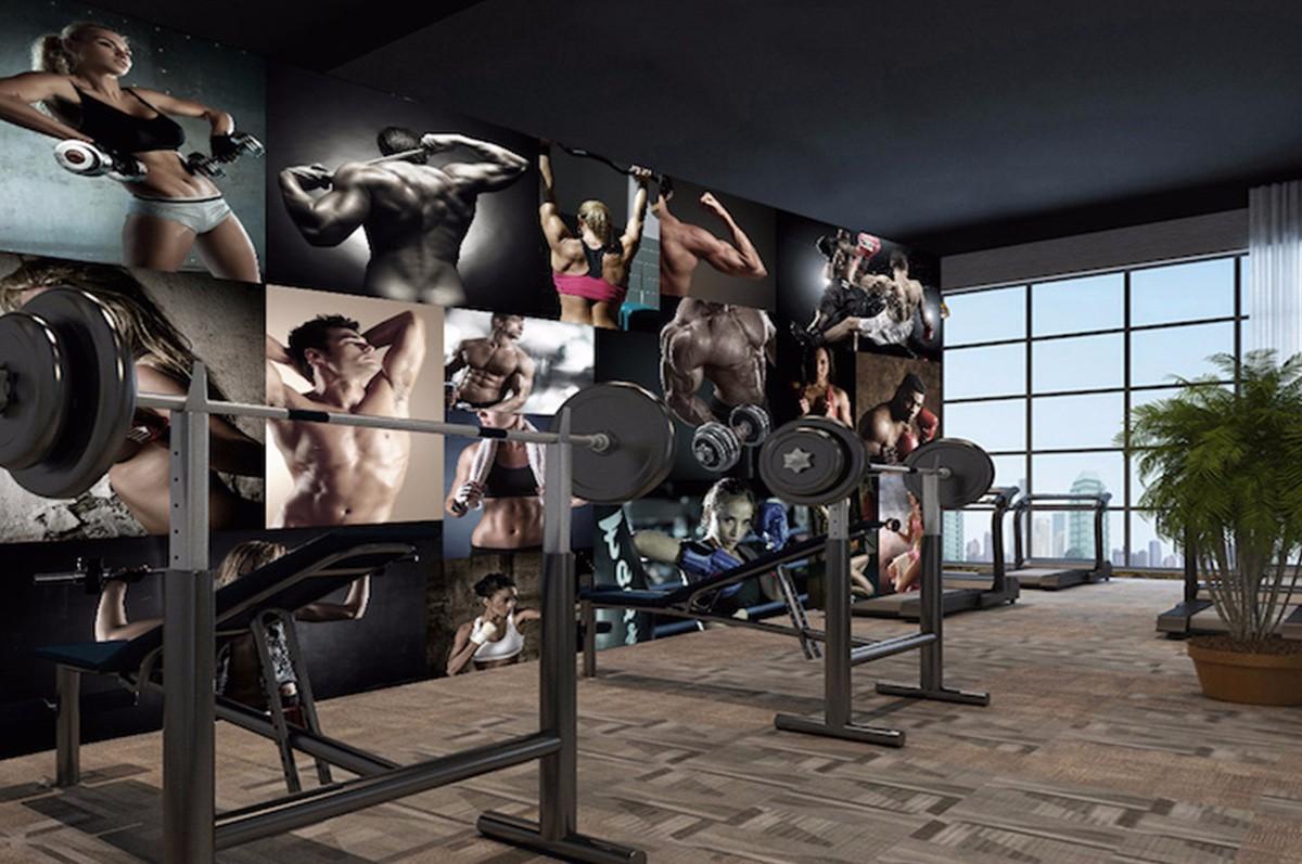 健身房壁畫JS12