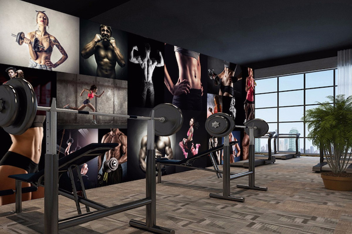 健身房壁画JS14