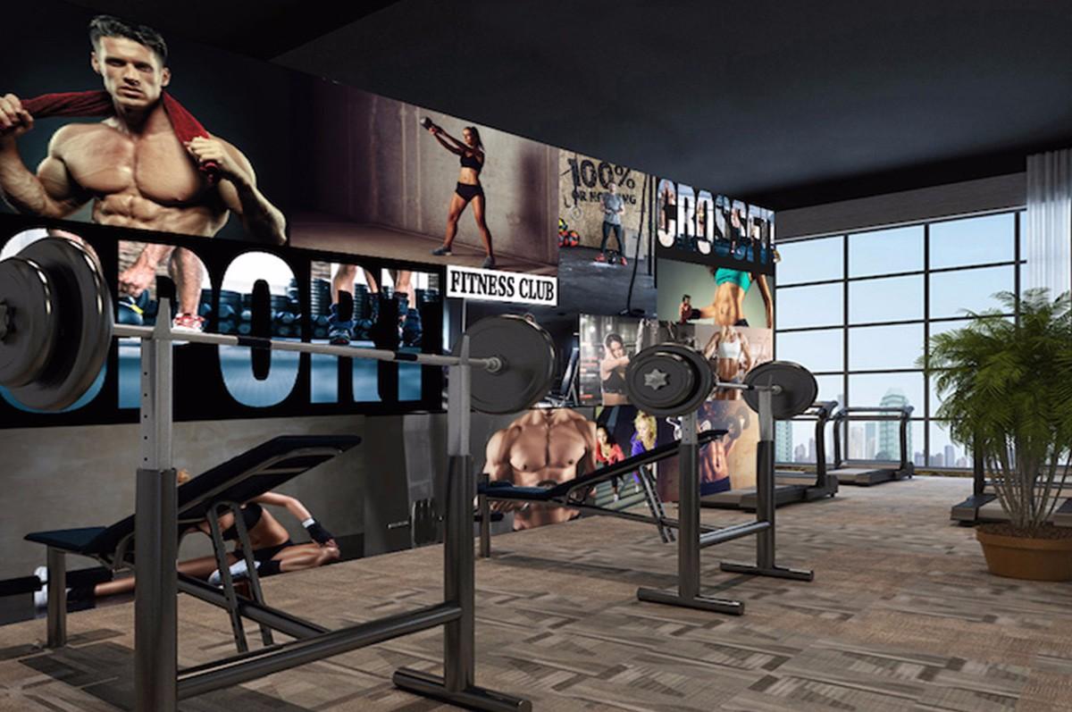 健身房壁畫JS15