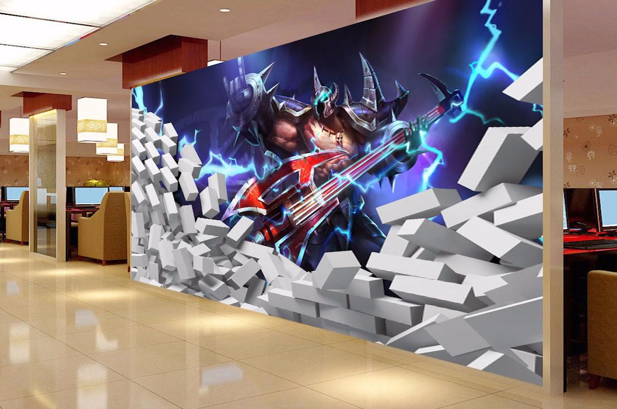 网咖壁画WK19