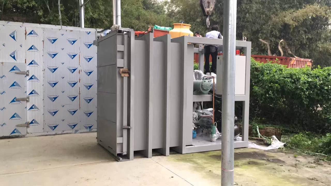 佛山客戶安裝現場,每次處理量500公斤