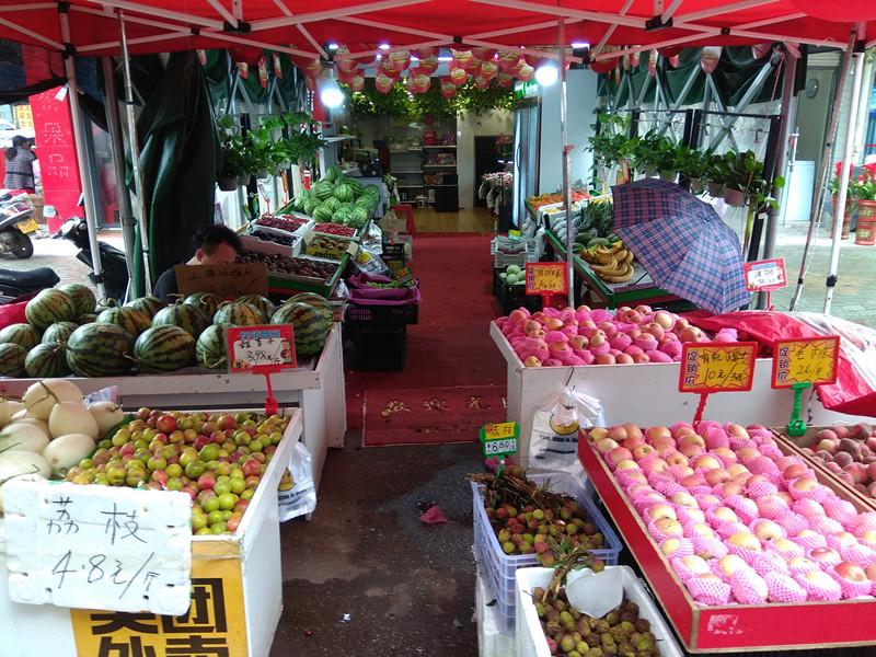 黄陂滠口农贸市场水果超市优转