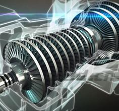 Analysis of power generation turbine components
