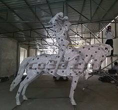 A three-dimensional scan of cavalry statues