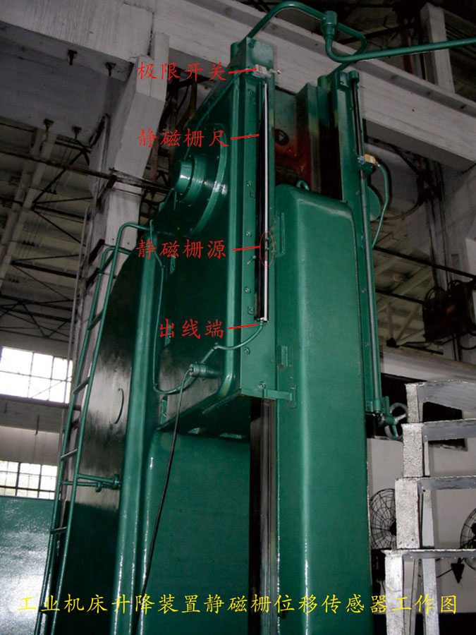 静磁栅williamhill中文传感器在武汉宝德机电工业机床升降装置上的应用