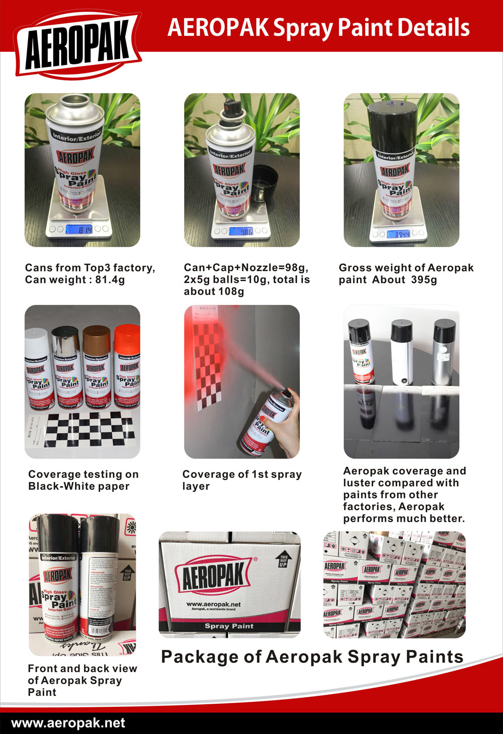 AEROPAK Spray Paints