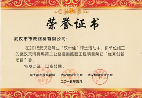 2015年优秀创新项目奖