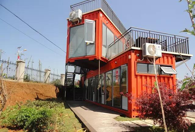 绿色环保集装箱酒店,可以直接投放景区内使用