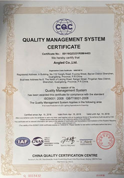ISO9000 English certificate