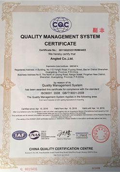 ISO9000 English version of the certificate (copy)
