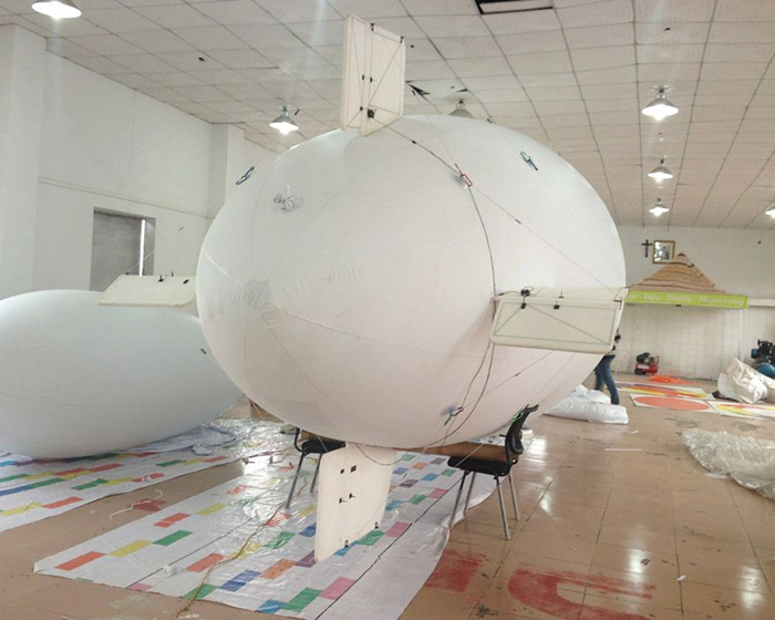 8.4m military remote control airship