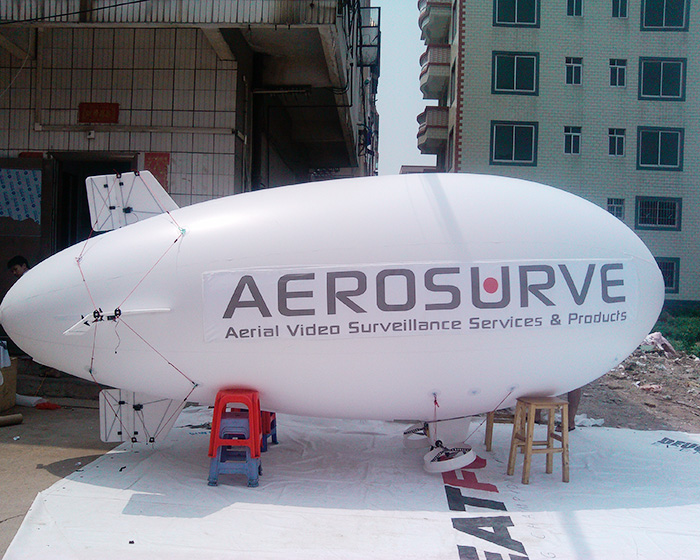 White remote control airship