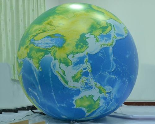 Inflatable globe helium balloon