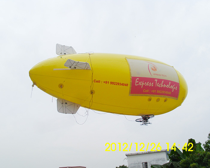 Yellow remote control airship