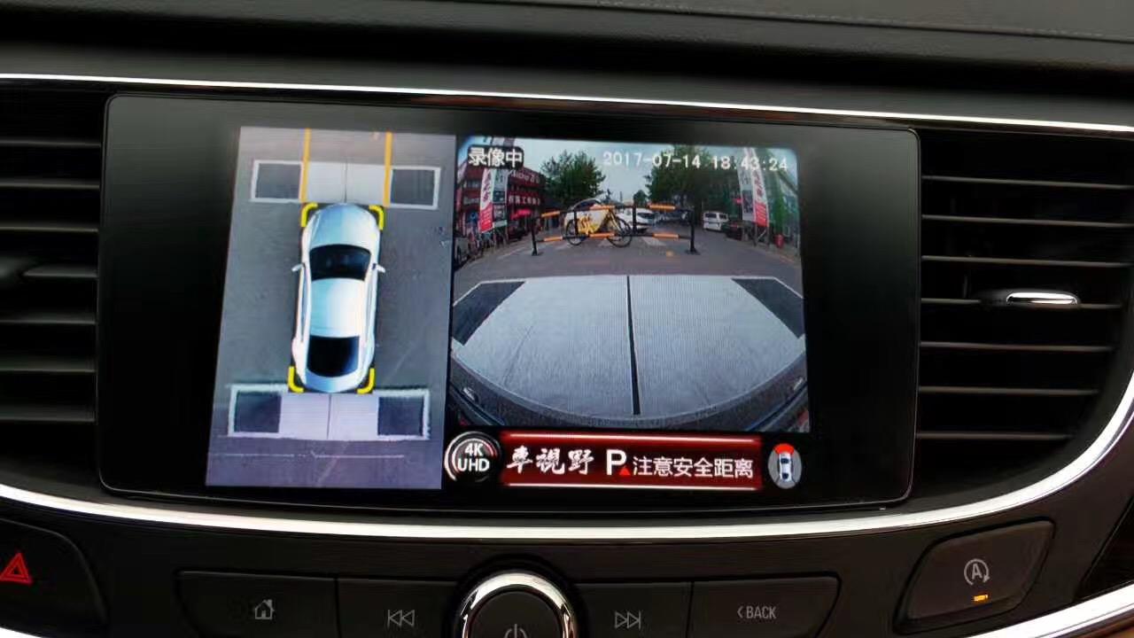 别克新君越加装车视野360全景4K超清全景匹配高清解码器