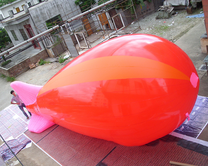 Orange pink airship