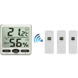 FT007-X3 Wireless Big Digit Thermo-hygrometer with Three remote