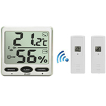 FT007-X2 Wireless Big Digit Thermo-hygrometer with two remote sensors