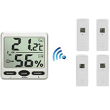 FT007-X4 Wireless Big Digit Thermo-hygrometer with Four remote sensors
