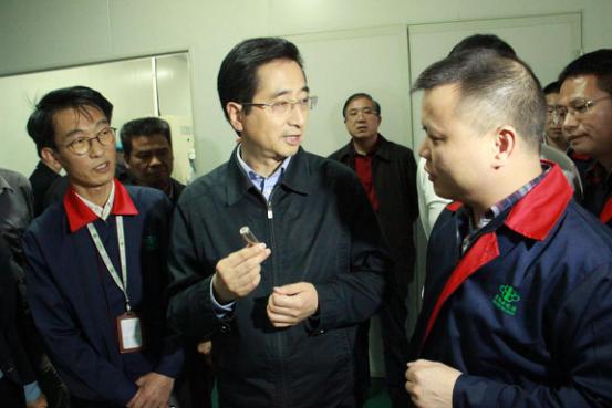 广西壮族自治区副主席张晓钦一行莅临广西万博手机版登录指导工作