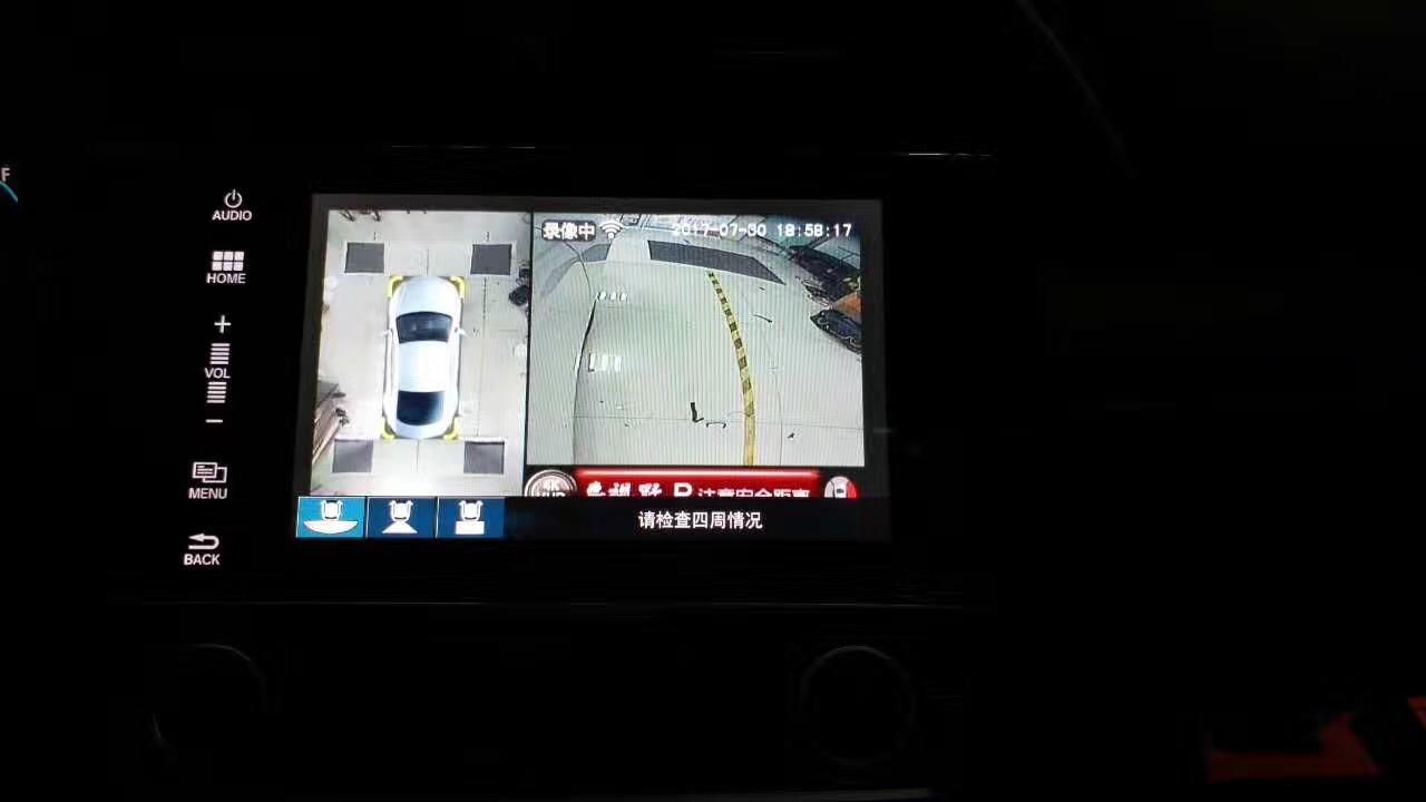 本田思域车视野360全景安装案例