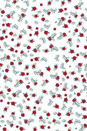 点缀红艳玫瑰束花