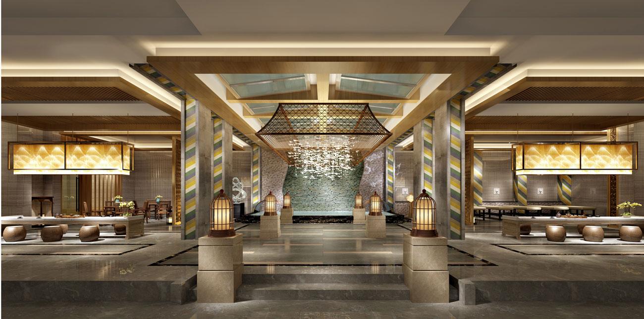 西安龍泉酒店桑拿浴場-會所設計