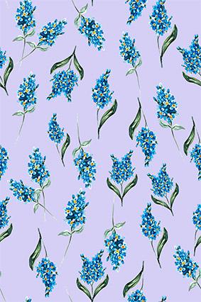 蓝色文艺装饰束花