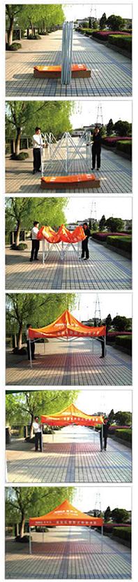 搭建广告帐篷广告伞巧妙方法