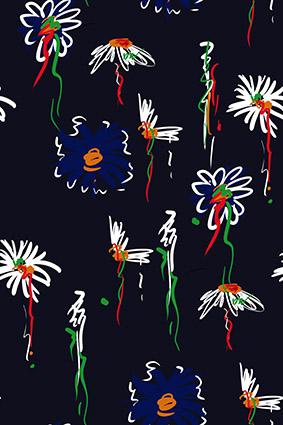 随笔花线真彩花朵