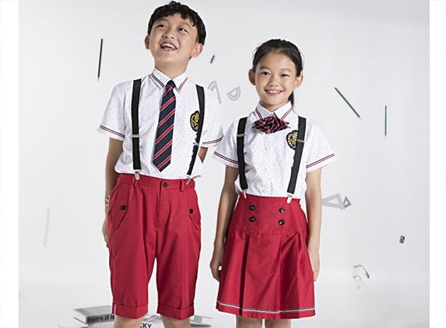 小学生夏季衬衣