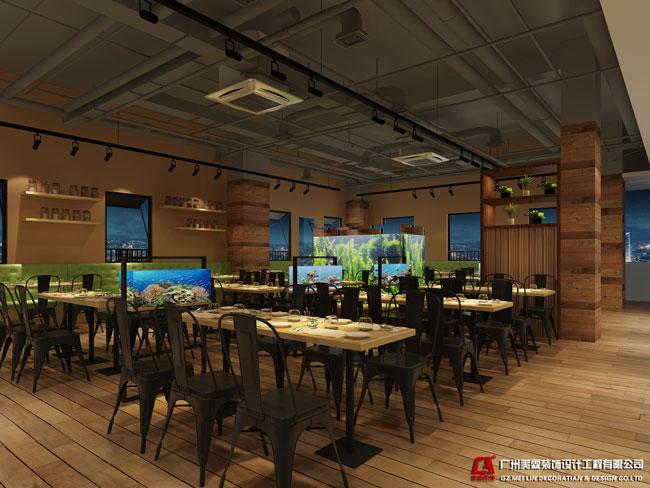 金鹅水族餐厅-餐饮装修设计